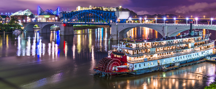 The American Queen river boat.