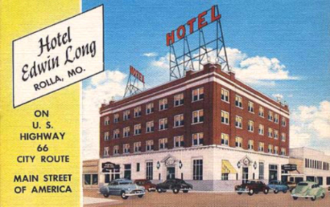 Postcard from the Edwin Long hotel.